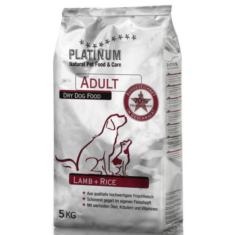 Platinum Natural Adult Lamb & Rice - JEHNĚČÍ S RÝŽÍ 5 KG